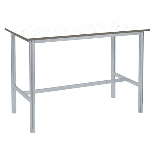 Metalliform Premium Round Frame Welded School Craft and Science Table - 1200 x 600mm - Speckled White 760mm High