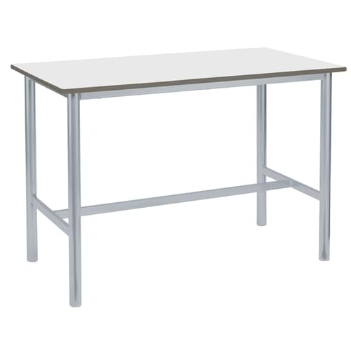 Metalliform Premium Round Frame Welded School Craft and Science Table - 1200 x 600mm - White 800mm High