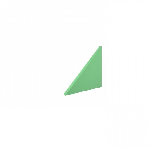 Piano acoustic 25mm thick small triangular wall tile 595mm x 595mm - made to order