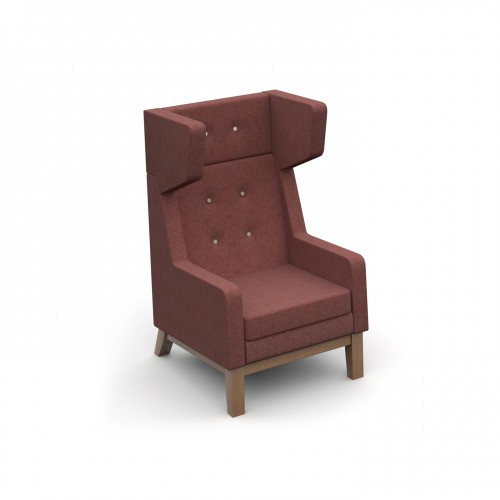 Ray high back single seater armchair with button back detail - made to order - Band C