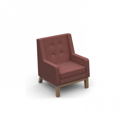 Ray low back single seater armchair with button back detail - made to order