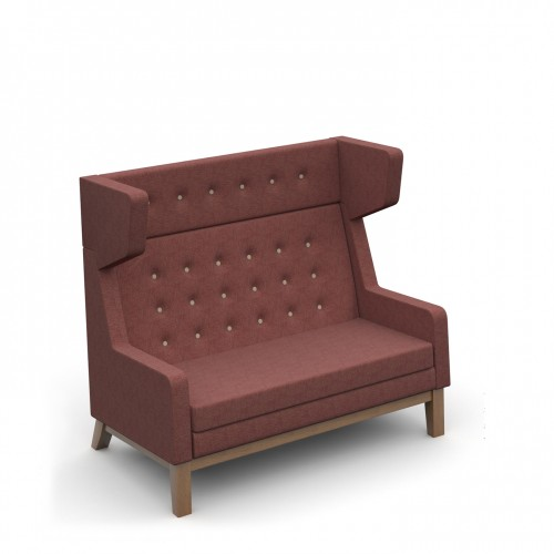 Ray high back single two seater sofa with button back detail - made to order
