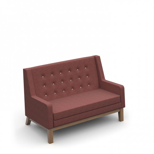 Ray low back single two seater sofa with button back detail - made to order