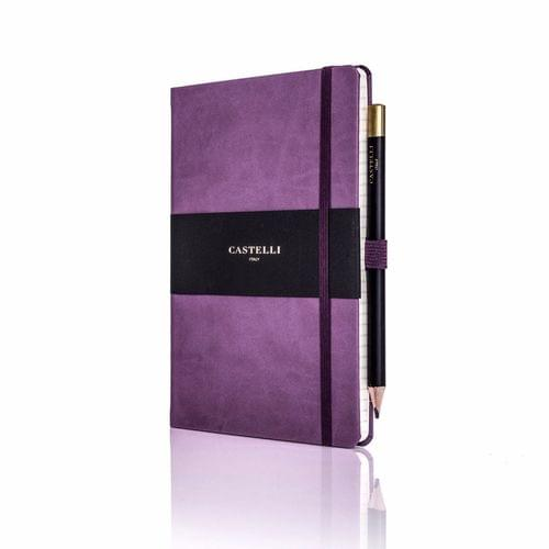 Castelli - Tucson Ivory Notebook Purple
