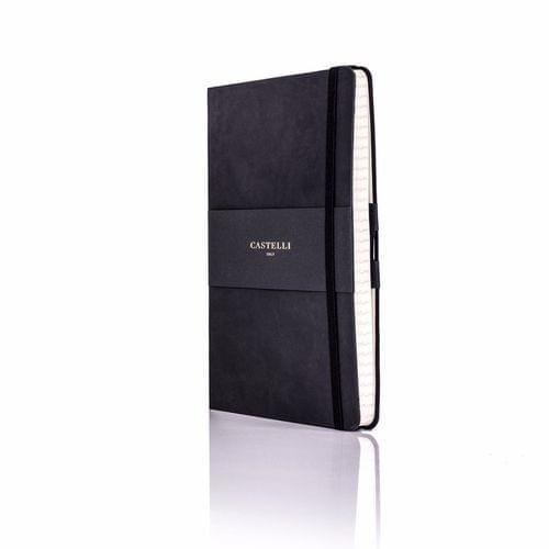 Castelli - Tucson Flexible Ivory Notebook - Black
