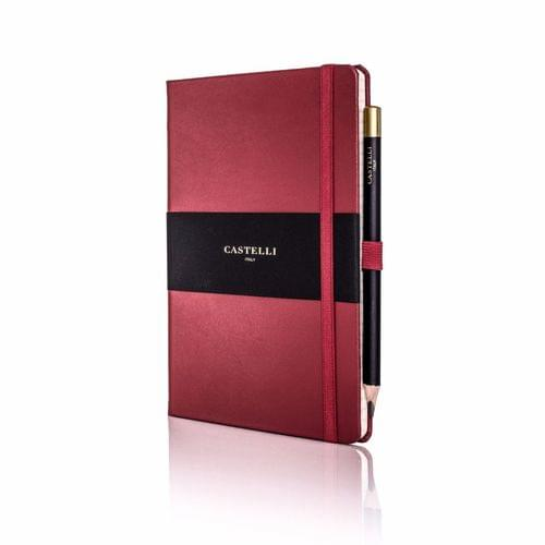 Castelli - Cordoba Leather Notebook Red