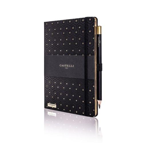 Castelli - Honeycomb Black & Gold Notebook