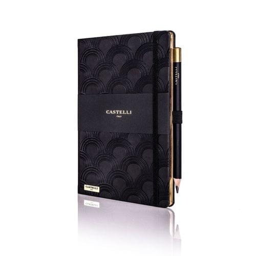 Castelli - Art Deco Black Notebook