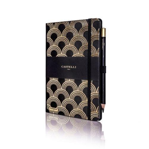 Castelli - Art Deco Gold Notebook