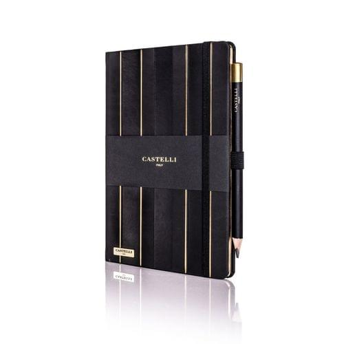 Castelli - Stripe Black & Gold Notebook
