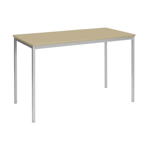 Metalliform Fully Welded Classroom Rectangular MDF Edge 1200mm Table - 640mm High - Beech and Grey