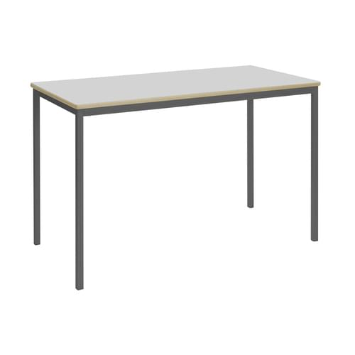 Metalliform Fully Welded Classroom Rectangular MDF Edge 1200mm Table - 640mm High - Light Grey and Black