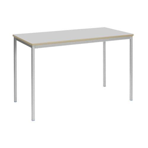 Metalliform Fully Welded Classroom Rectangular MDF Edge 1200mm Table - 760mm High - Light Grey and Grey