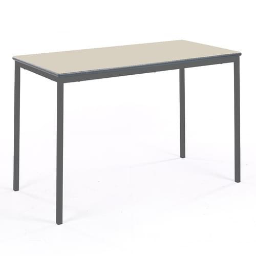 Metalliform Fully Welded Classroom Rectangular PU Edge 1200mm Table - 760mm High - Beech and Black