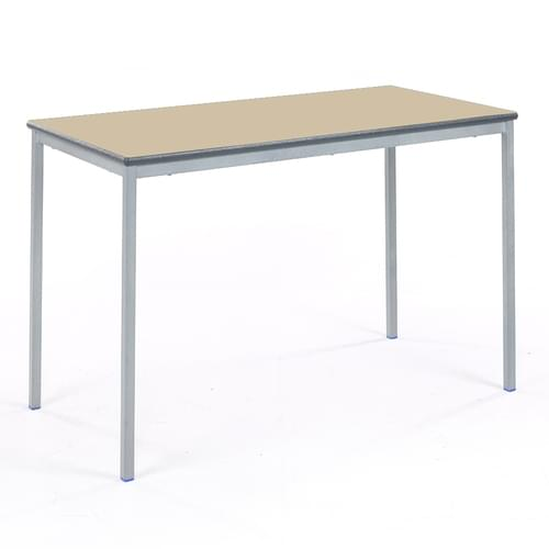 Metalliform Fully Welded Classroom Rectangular PU Edge 1200mm Table - 710mm High - Beech and Grey