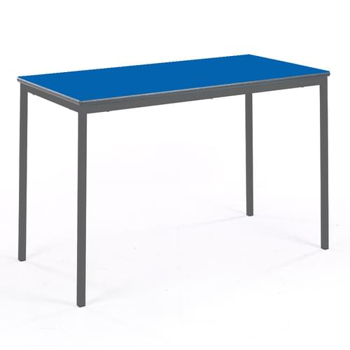 Metalliform Fully Welded Classroom Rectangular PU Edge 1200mm Table - 640mm High - Blue and Black
