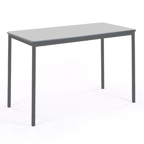 Metalliform Fully Welded Classroom Rectangular PU Edge 1200mm Table - 710mm High - Light Grey and Black