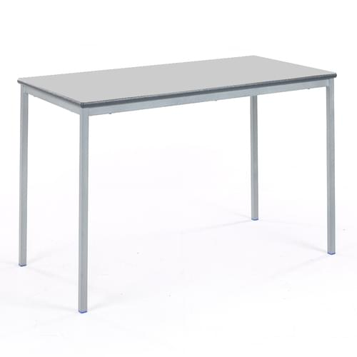 Metalliform Fully Welded Classroom Rectangular PU Edge 1200mm Table - 640mm High - Light Grey and Grey