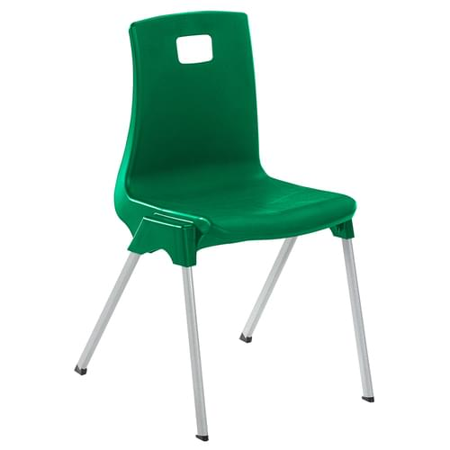 Metalliform School Classroom ST Stackable Linking Chairs - 430mm High 11-14 Years - Green