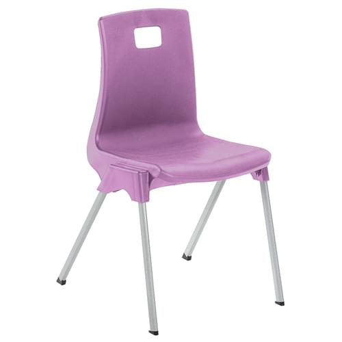 Metalliform School Classroom ST Stackable Linking Chairs - 380mm High 8-11 Years - Lilac