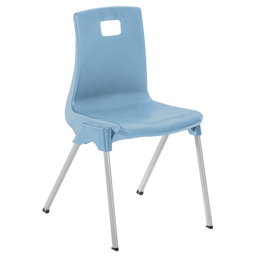 Metalliform School Classroom ST Stackable Linking Chairs - 260mm High 3-4 Years - Soft Blue