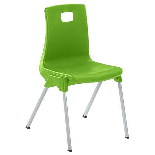 Metalliform School Classroom ST Stackable Linking Chairs - 260mm High 3-4 Years - Tangy Green