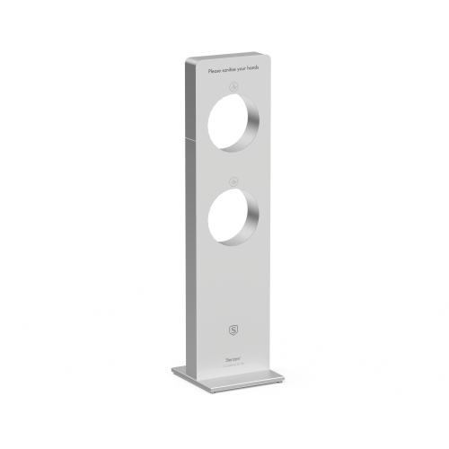 Sterizen X5 Stainless Steel Auto Hand Sanitizer Gel Dispenser Station - Duo
