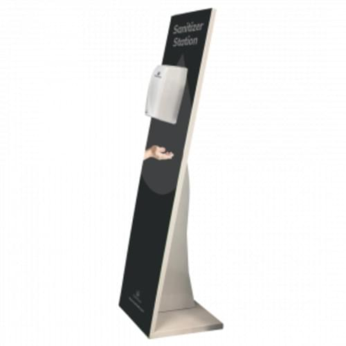 Suresan XP Sanitizer Dispenser 1.55M High Display Stand with Automatic Touch Free Dispenser BLACK