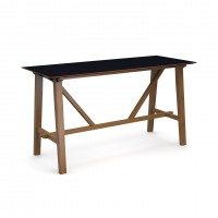Crew poseur table 2000mm x 800mm with solid ash leg frame and 25mm white mdf top - made to order