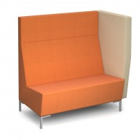 Encore Modular straight double seater bench with left arm and metal legs - made to order - Band C