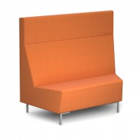 Encore Modular concave 45 degree single seater bench with metal legs - made to order