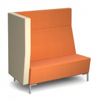 Encore Modular straight double seater bench with right arm and metal legs - made to order - Band C