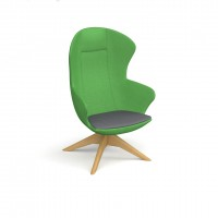 Figaro designer single seater armchair with wooden base - made to order