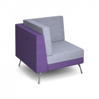 Lyric modular soft seating corner unit with metal legs - made to order - Band B