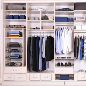 Clothes storage boxes and shoe box storage