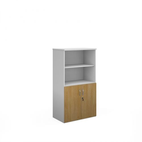 Mid Height Bookcases with Storage Cupboard