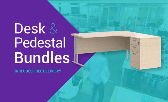 Desk & Pedestal Bundle – Free Delivery