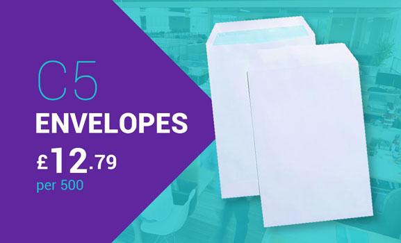 C5 Envelopes £12.79 per 500