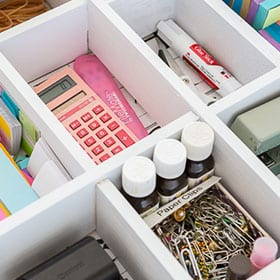 Stationery cupboard/drawer essentials