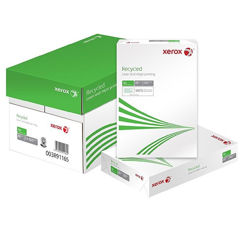 Xerox A4 100% Recycled Copier Paper OFF-WHITE 80gsm Box 5x500 (2500 Sheets) 003R91165