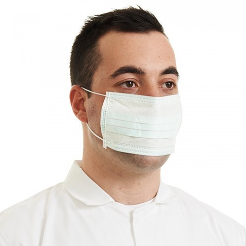 ELASTICATED Disposable Surgical Non-Woven Face Mask BLUE BFE95 (Box 50)