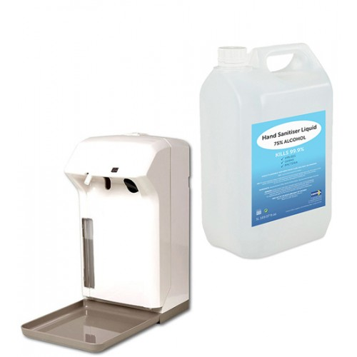 Automatic Hand Sanitiser Spray Dispenser Battery Operated includes 5L Refill
