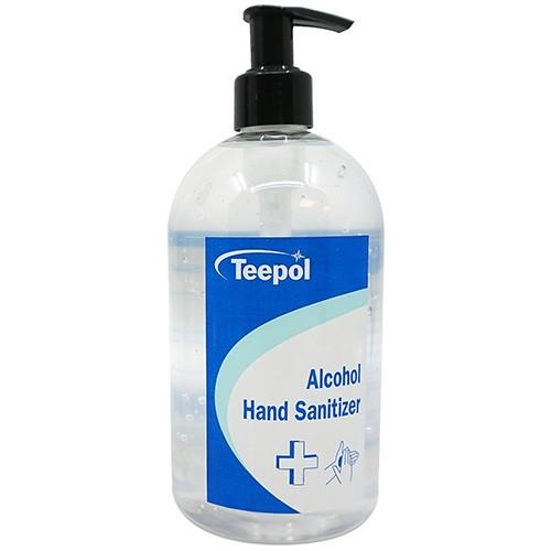 Teepol 70% Alcohol Hand Sanitizer 500ml Pump Bottle