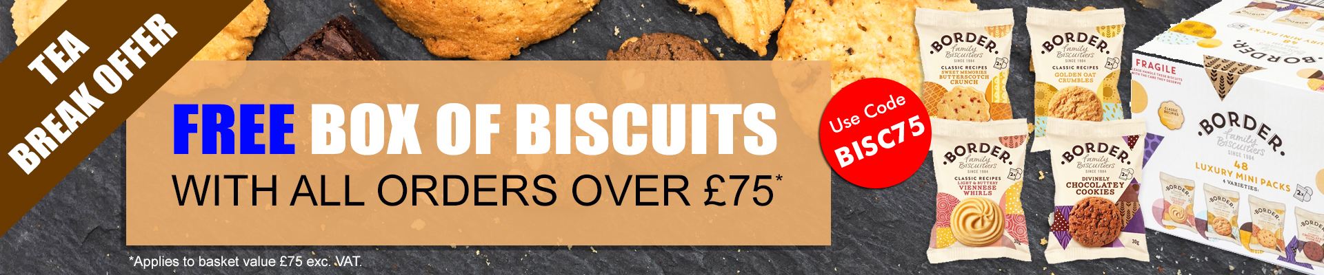 Free Biscuits with orders over \u00a375