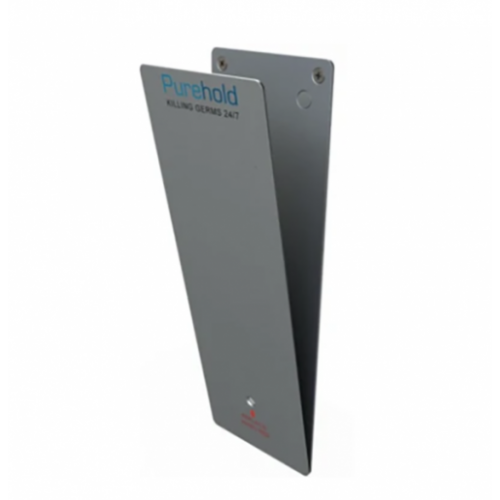 Purehold PUSH - Antibacterial Door Push Plate 400 x 95 (Standard Size) Full Starter Pack - Replace every 12 months