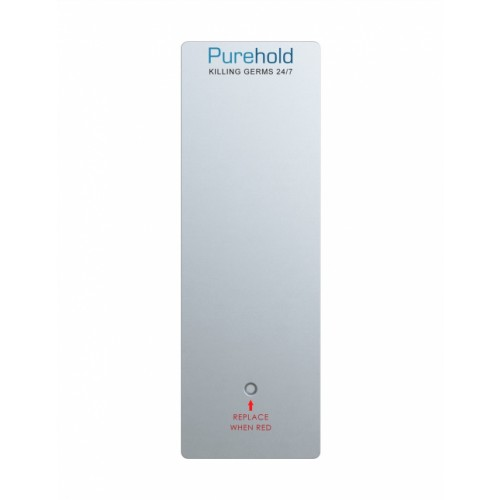 Purehold PUSH - Antibacterial Door Push Plate 400 x 95mm (Standard Size) Replacement Front Panel Replace Every 12 months