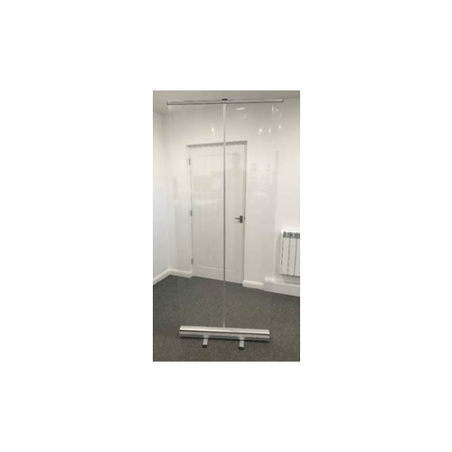 Floor Standing Protective Roll Up Screen 1500 mm Width x 2000 mm Height
