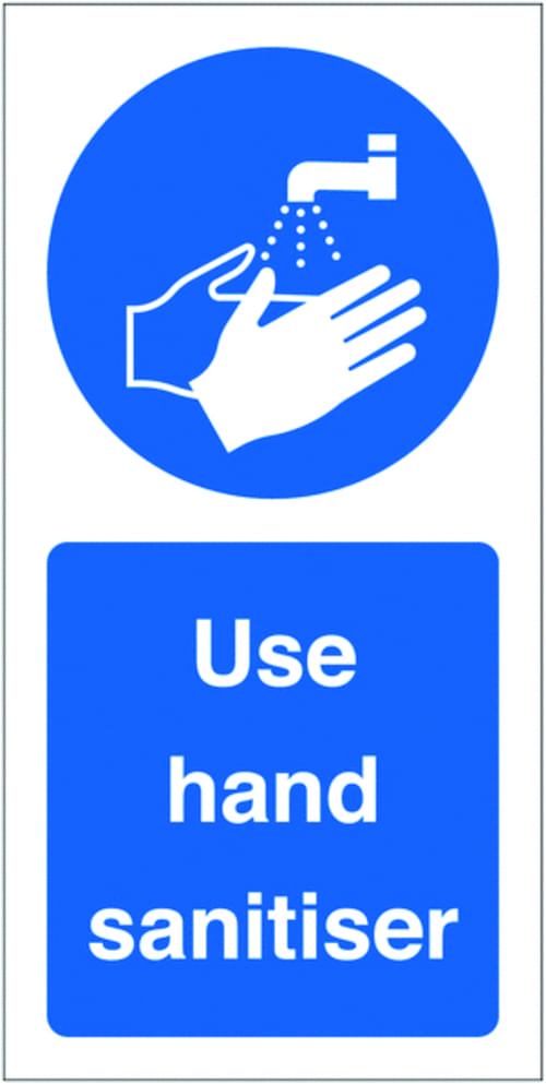 Use Hand Sanitiser Labels 100x50mm (Roll of 100)