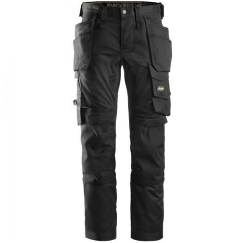 Snickers 6241 AllroundWork Stretch Trousers Holster Pockets Black [Size 104]
