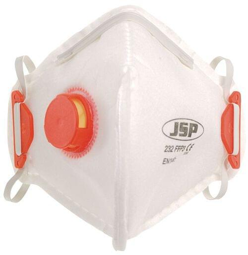 JSP Disposable Fold Flat Mask FFP3V 232 Valved (Pack of 10)